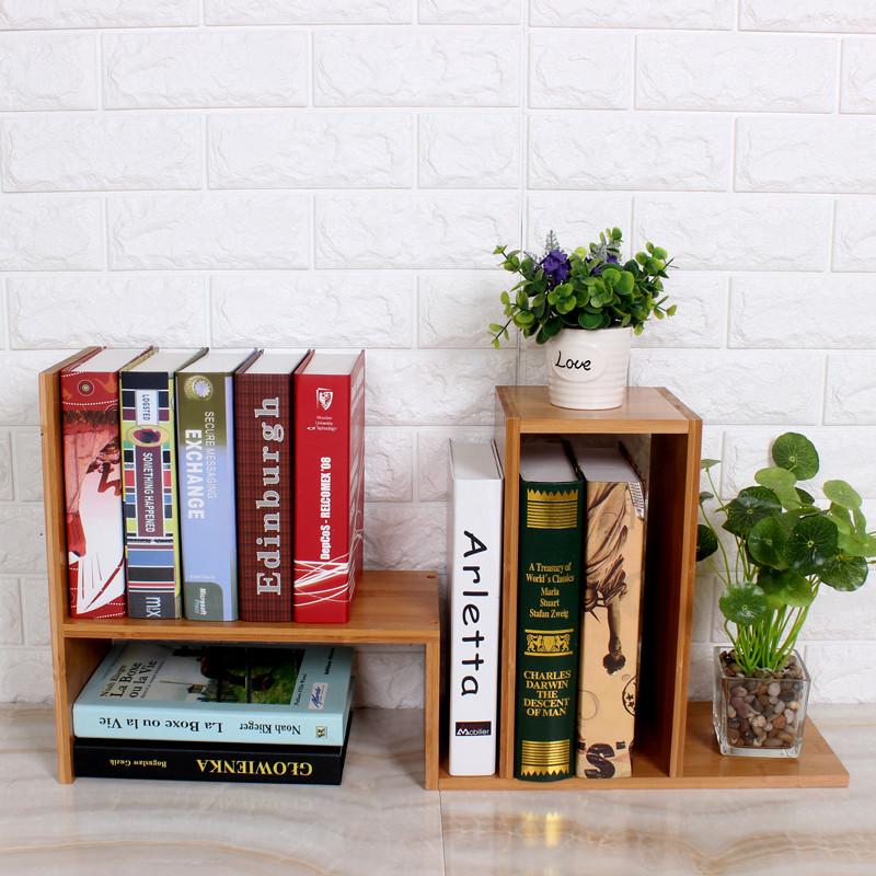 竹城鼎信創意桌上書架簡易組合桌面小書架置物架自由擺放辦公書柜學生