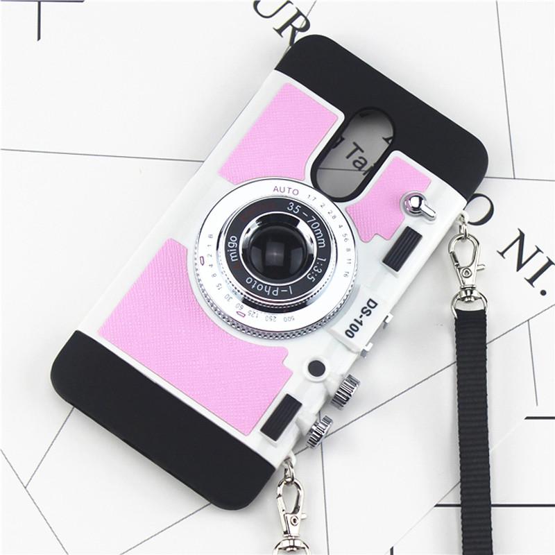 坚达 创意照相机手机壳 硅胶全包挂脖防摔保护套 适用
