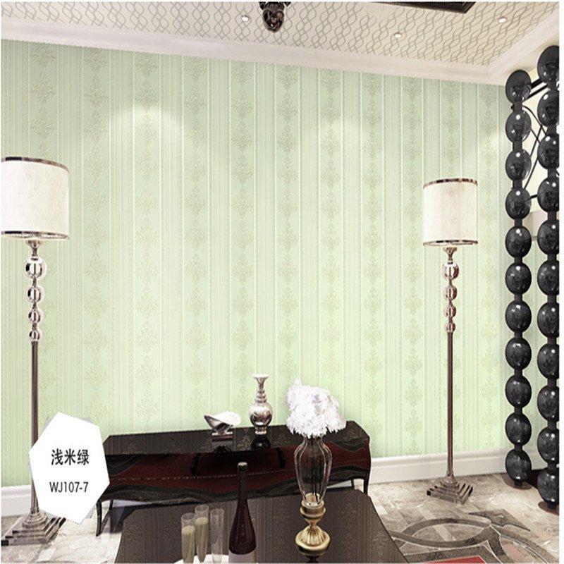 欧式风情竖条环保无纺布墙纸 客厅卧室电视背景墙墙纸图片
