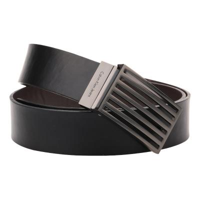 卡尔文·克莱恩Calvin Klein男士腰带CK黑色系商务休闲时针扣腰带