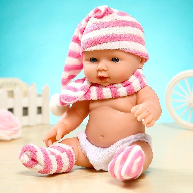 智能塑胶仿真婴儿小娃娃洗澡洋娃娃软胶家政月嫂培训宝宝早教安抚玩具