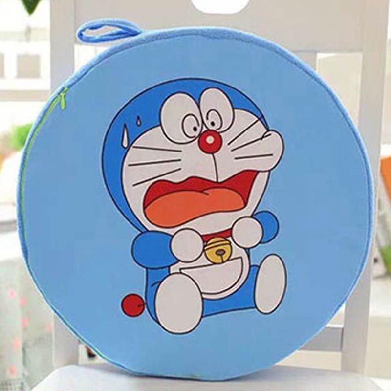 宝诚达 可爱叮当猫公仔圆形靠垫 哆啦a梦毛绒玩具椅子