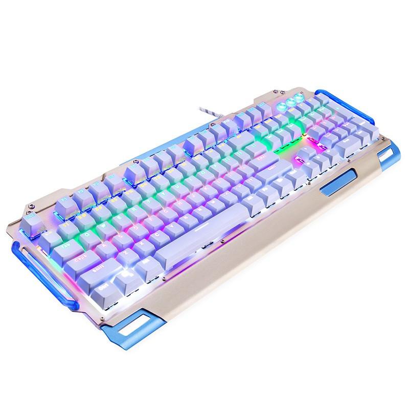 新盟炼狱狂蛇k916机械键盘104键青轴发光背光有线电脑