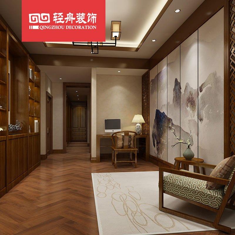 轻舟装饰北京家装公司/室内设计全案装修/主材施工效果图/平层复式