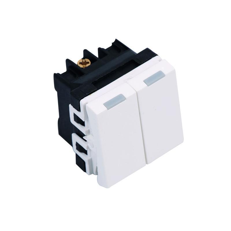 飞雕(feidiao)开关插座a3-118型 小二开双控功能件(随意搭配面板带架