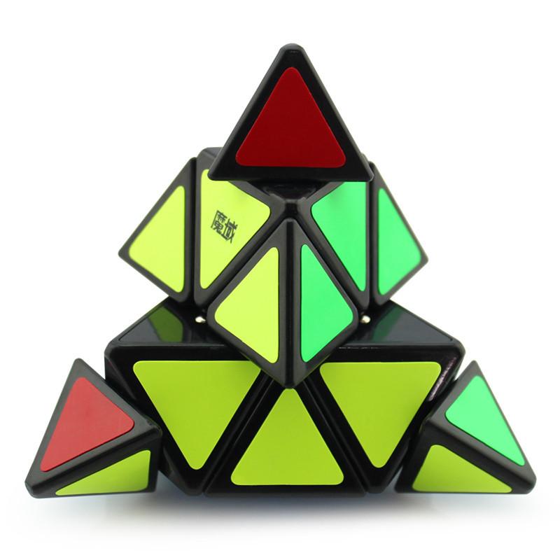 永骏魔域魔方金字塔异形魔方三角形专业速拧比赛魔方儿童益智玩具(黑