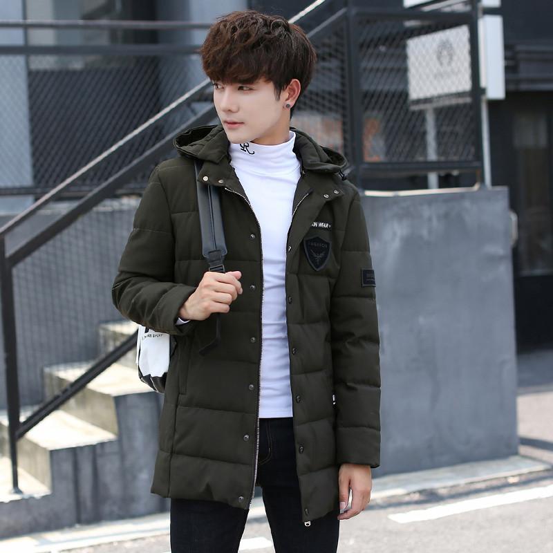 x-man2018冬季新款男士棉衣韓版中長款棉服青年棉襖連圖片