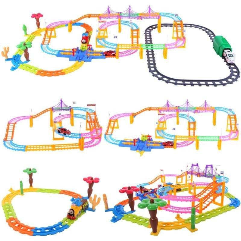 贝恩施婴儿童电动音乐轨道火车 轨道车玩具 火车玩具多款式套装
