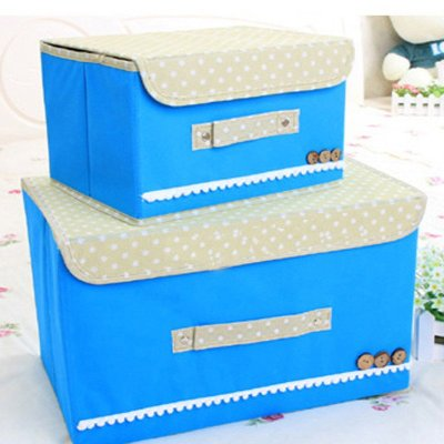 蜗家单盖腹膜纯色可洗收纳箱 储物箱 整理箱有盖防水防潮