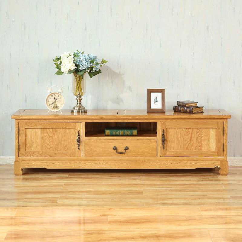万德美家具 实木电视柜 欧式电视柜组合 电视机柜 1.