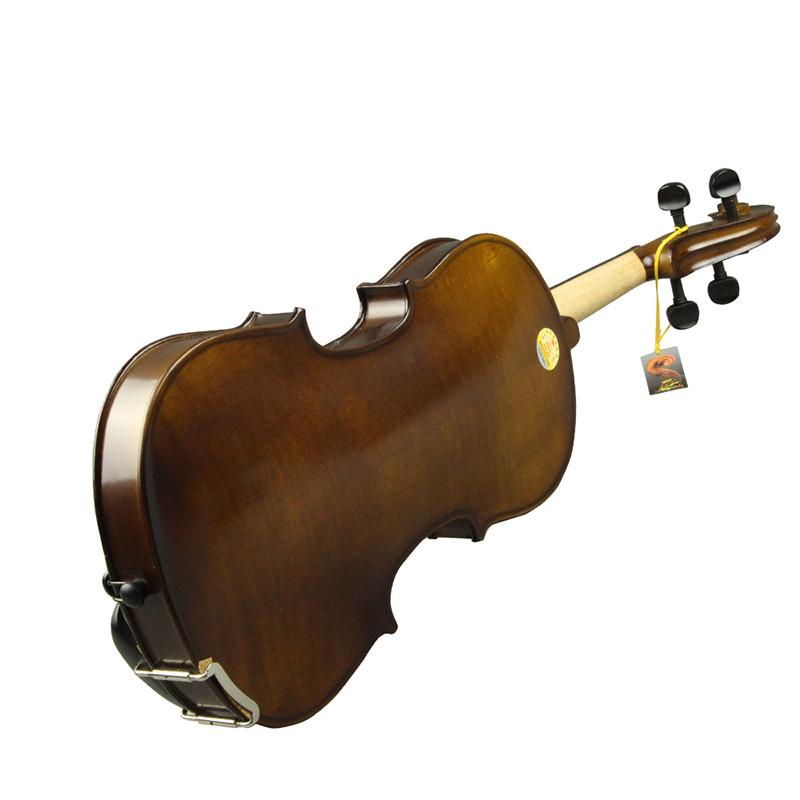 红棉小提琴v006哑光复古仿古手工实木考级小提琴成人儿童初学者图片