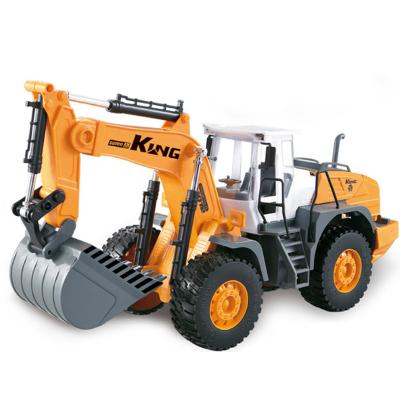 大号惯性工程车挖掘机铲车推土机压路机汽车模型挖土机塑料玩具车速翔玩具