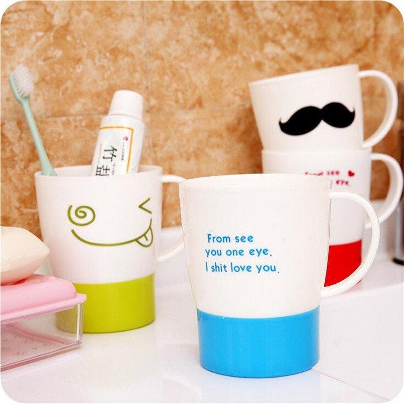 文博c045可爱卡通洗漱杯创意时尚情侣漱口杯牙缸杯浴室牙刷杯lq2016