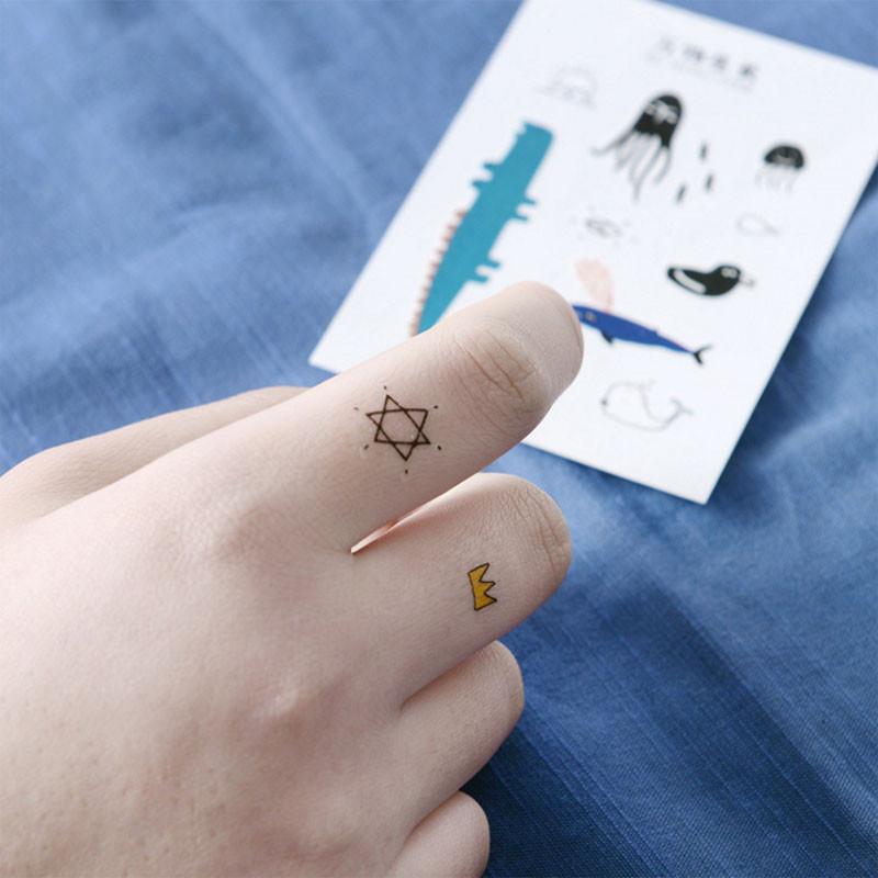 创意唯美防水纹身贴a616卡通可爱动物男女情侣身体刺青贴美妆工具lq