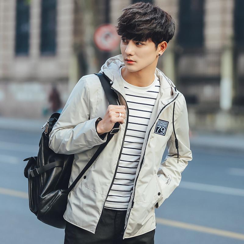 唐森马维狮男装春装外套2017新款韩版休闲夹克男帅气连帽衣服潮图片