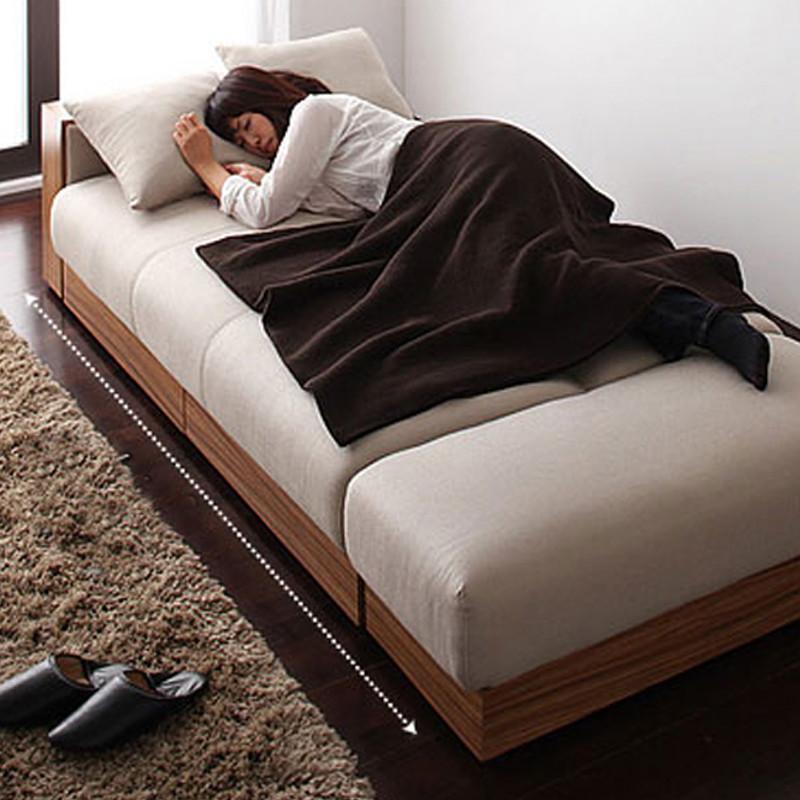 奥古拉 布艺沙发 沙发床 日式小户型沙发 多功能折叠沙发床可拆洗带