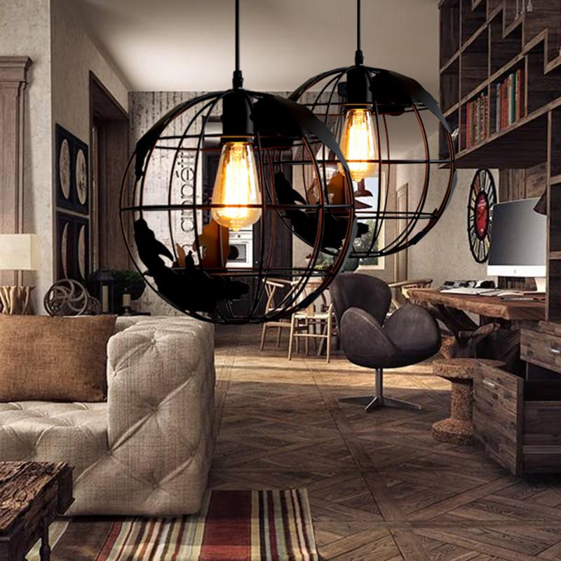 复古工业风吊灯餐厅卧室书房阳台过道酒吧台艺术创意个性吊灯