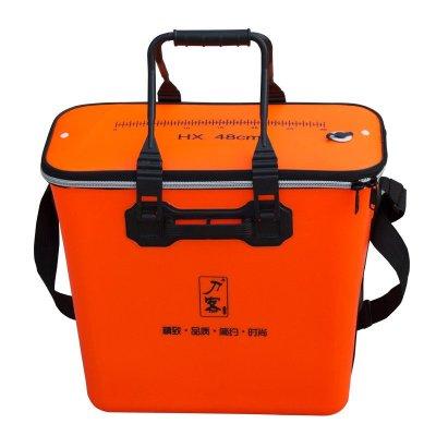 刀客EVA一體加厚魚護桶釣魚桶一體加高雙背活魚箱eva養魚桶裝魚加厚魚護水桶