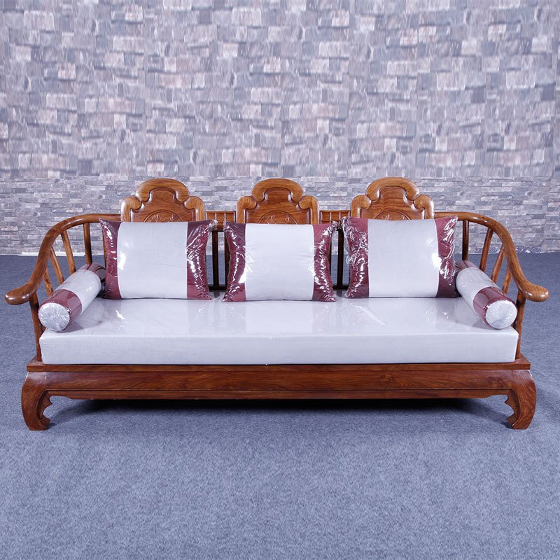 琪梦红木家具刺猬紫檀实木新中式客厅沙发组合六件套客厅成套家具