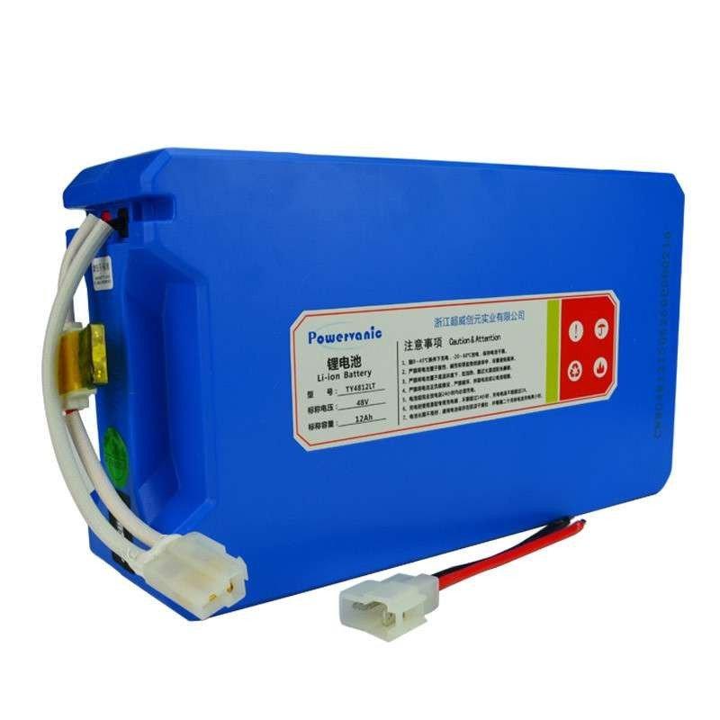 超威 电动车锂电池48v12ah(lt款)13串电芯电瓶车动力蓄电池 电动车