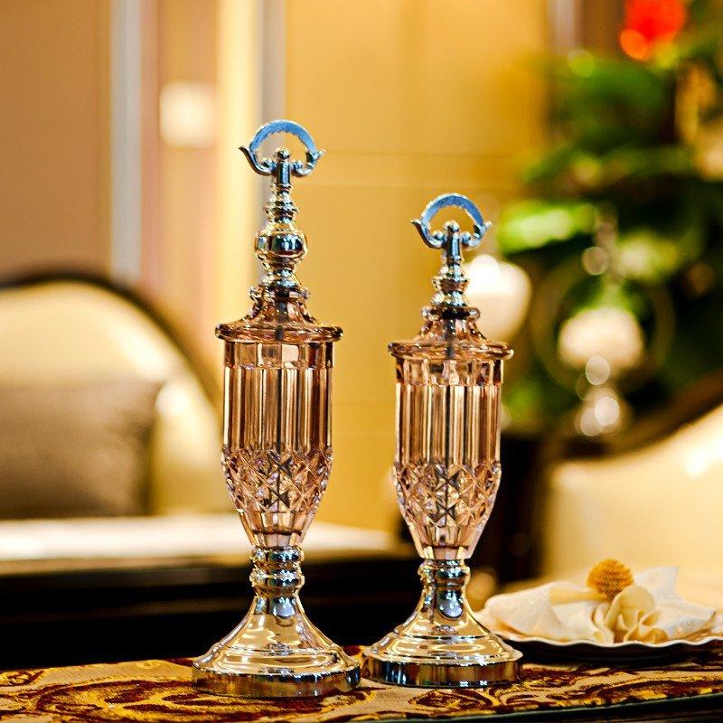 北欧家居装饰品 时尚玻璃工艺品 家饰桌面柜台摆件 现代创意摆设 摆件图片