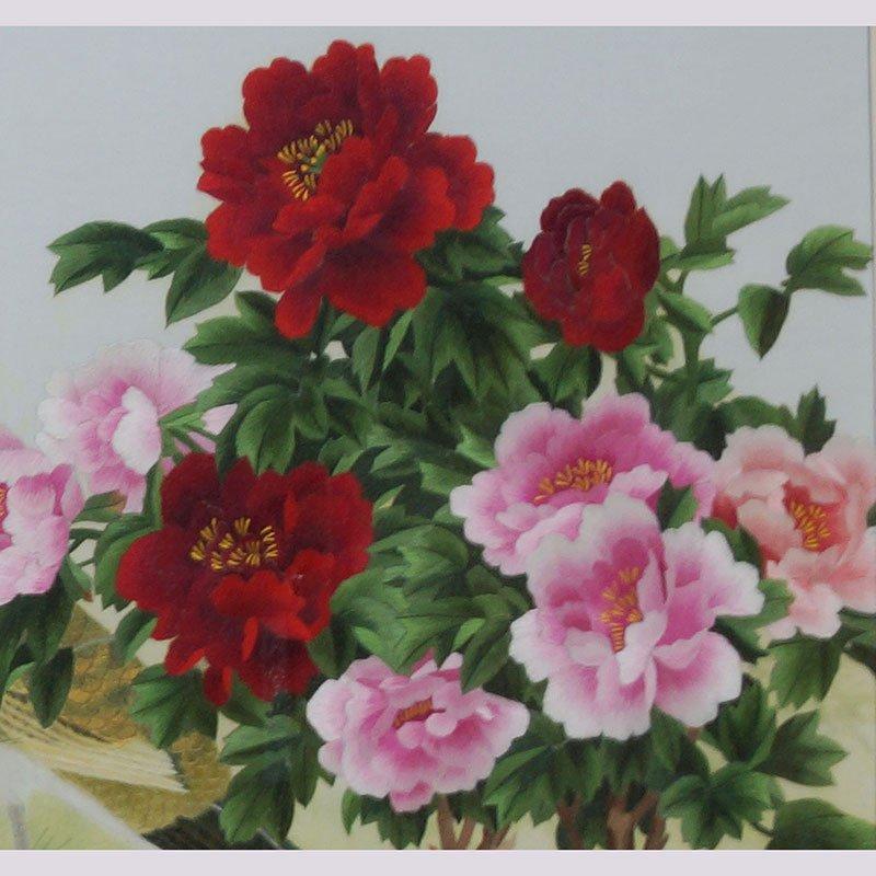 中式欧式家居客厅装饰画挂画 客厅画 单面绣 孔雀 牡丹 送礼佳品 j-b