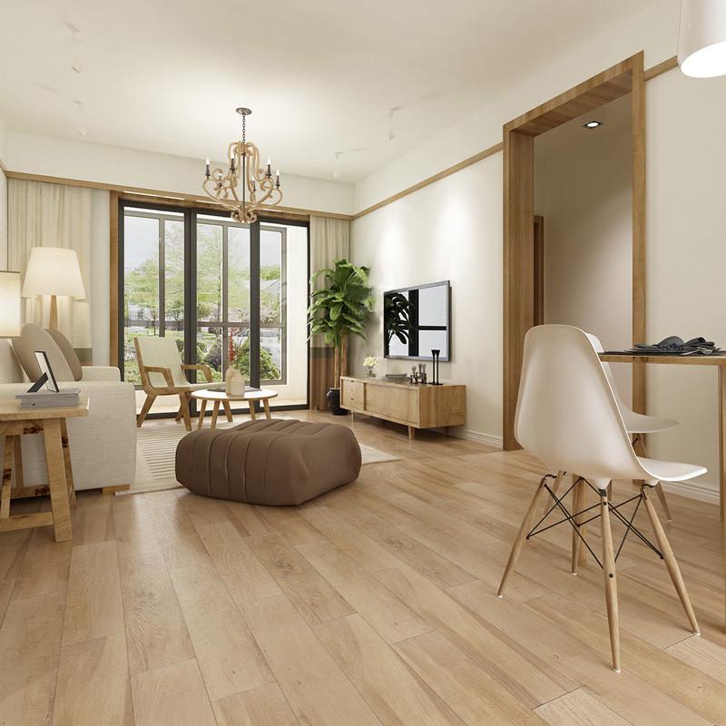 卧室客厅阳台仿木纹砖地板