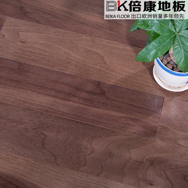 倍康地板 黑胡桃实木复合木地板 耐磨多层地板 厂家直销 dc7016