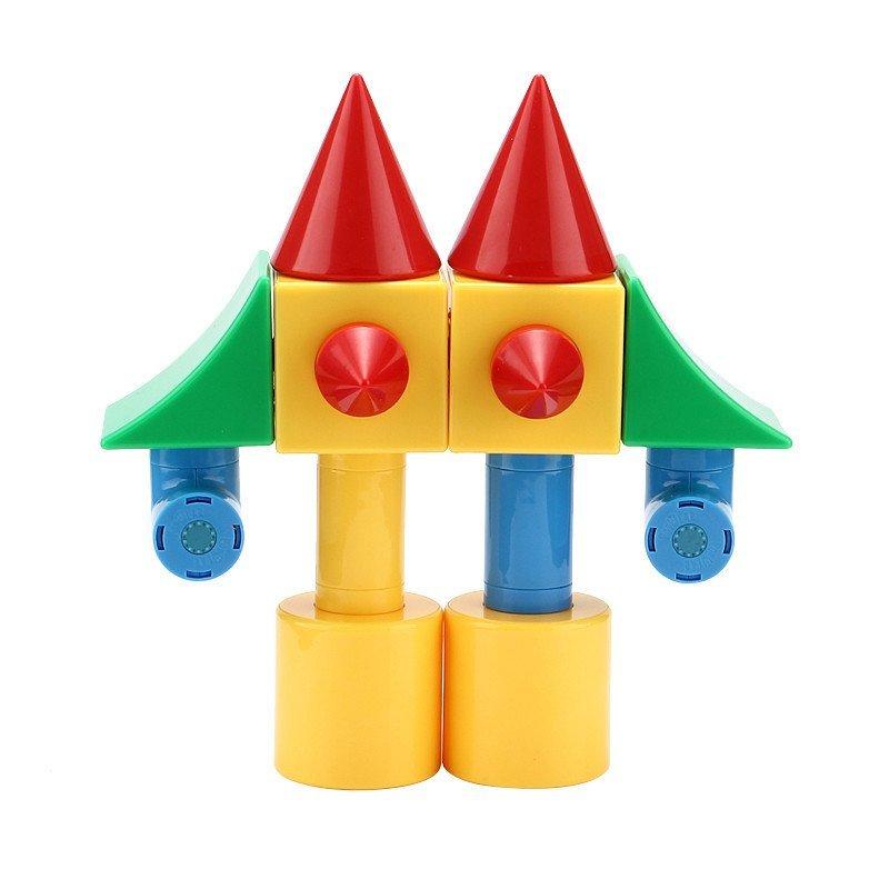 搭建积木百变拼装拼插积木儿童磁性立体拼接建构拼块儿童益智积木玩具