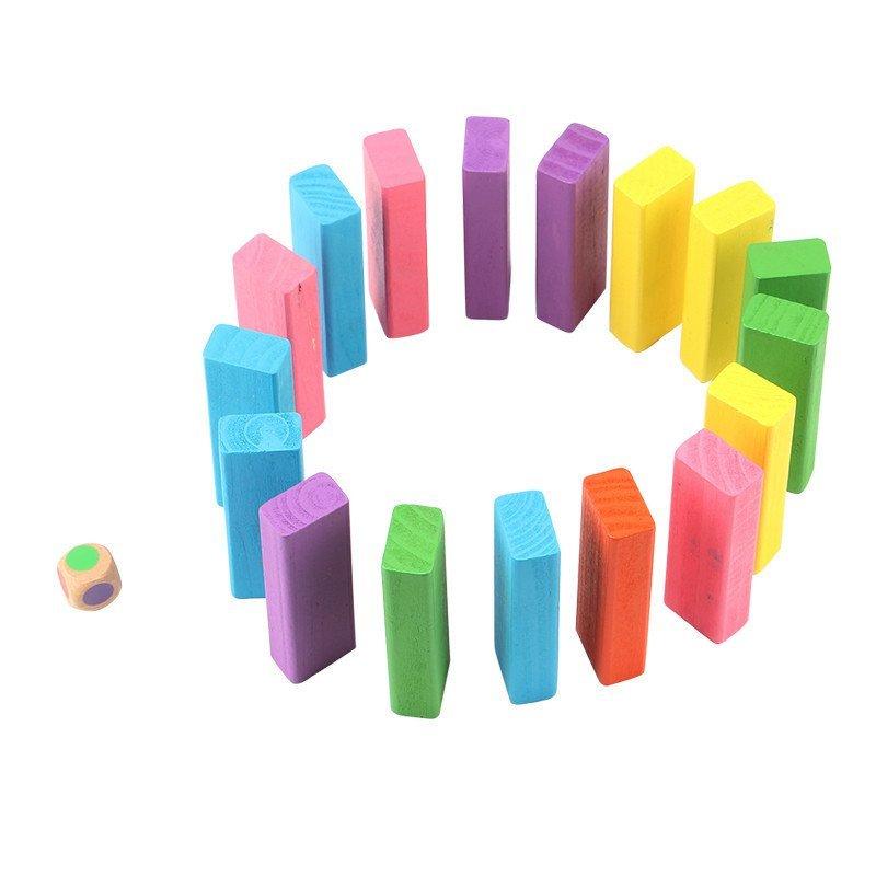 榉木彩色叠叠乐数字叠叠高层层叠抽积木儿童益智力玩具木质玩具3-4-5