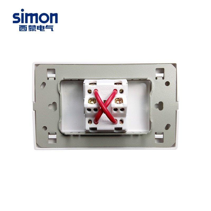 西蒙118型开关插座面板52系列雅一开三控 多控中途开关