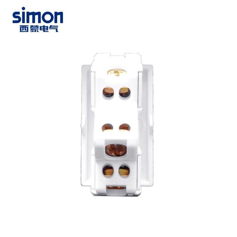 西蒙开关插座52系列 三开双控开关功能件 118型三开模块