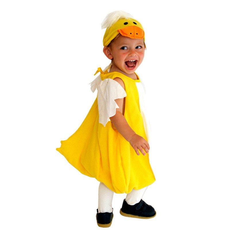 派对万圣节服装男童宝宝儿童演出服装动物服装可爱小鸭子衣服马甲服饰