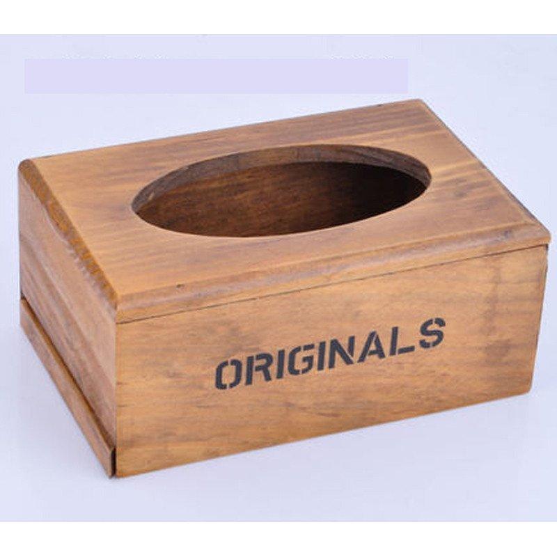 创意实木纸巾盒抽纸盒家居摆件收纳盒木质抽纸盒实用