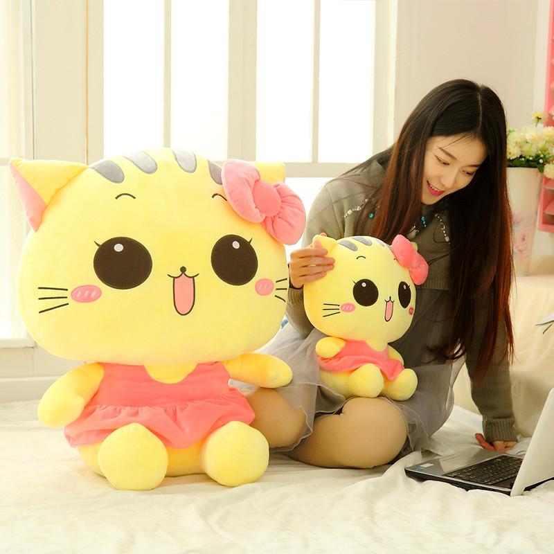 绒翼 猫咪公仔毛绒玩具大号玩偶猫可爱抱枕大脸猫布娃娃生日礼物送