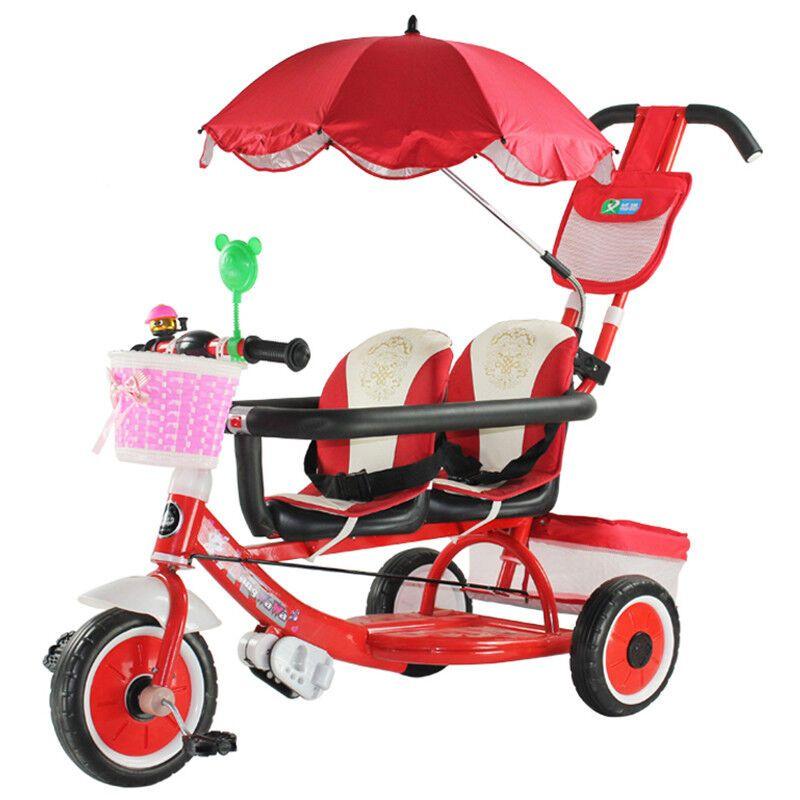 双胞胎三轮车双人12345岁儿童手推车童车脚踏车宝宝童车
