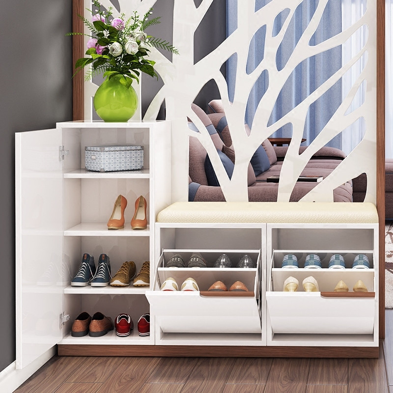 华纳斯 鞋柜 玄关柜隔断柜屏风连体两用 预售图片