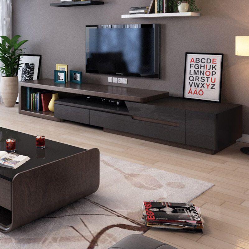 北欧现代简约钢化玻璃茶几 客厅家具创意美式储物烤漆茶几桌电视柜图片