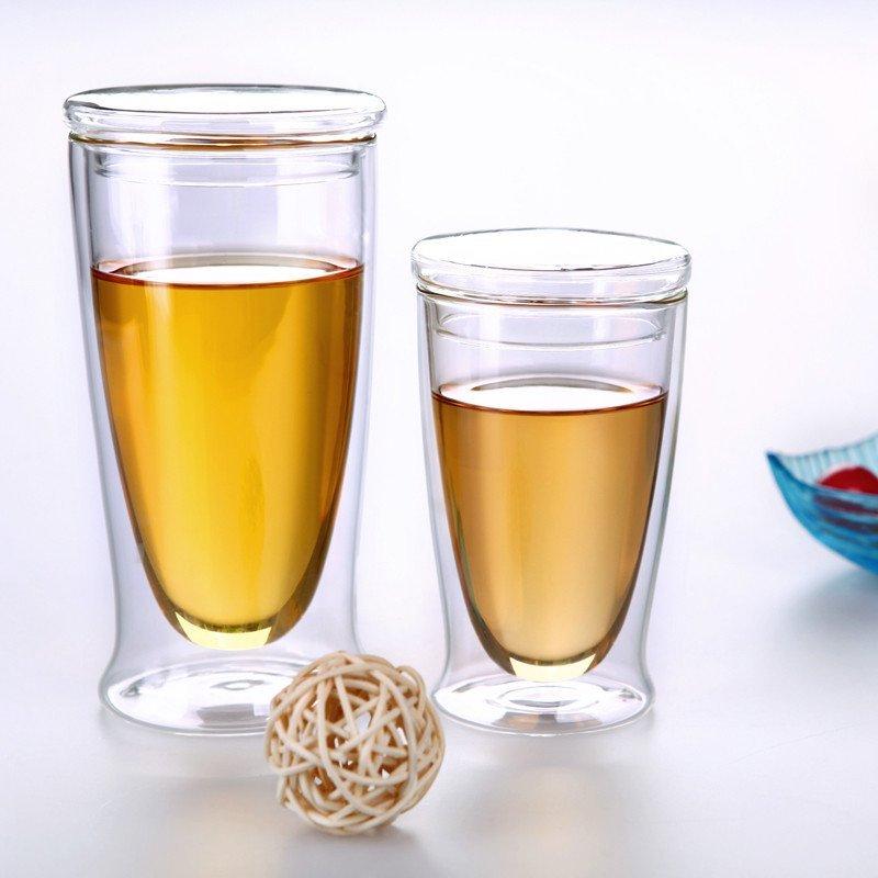 relea/物生物 双层玻璃杯情侣杯 花茶杯 创意果汁杯 办公牛奶杯图片
