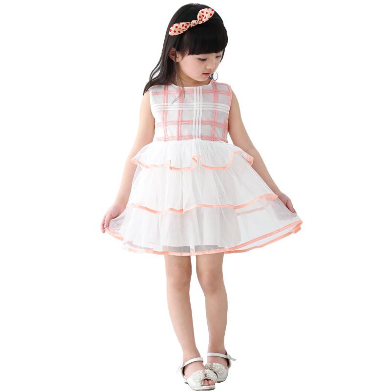 漫画仔仔童装女童夏装连衣裙可爱网纱儿童公主裙韩版a字裙小女孩裙子
