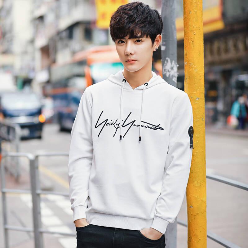 男士卫衣_2018春季新款男士卫衣连帽香港街拍