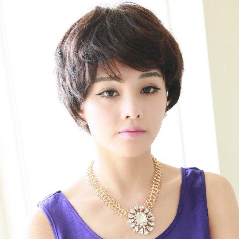 短发新款短卷发套时尚帅气圆脸女士jiafa 主持人发型 短发卷 沙宣头图片