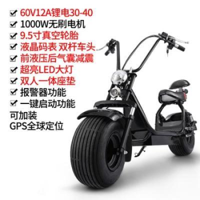 骏杰动感哈雷60v锂电哈雷城市代步车电动智能平衡车双轮太子休闲车电瓶车锂电12安高配60V