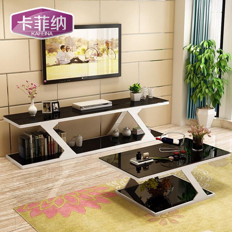 客厅五金茶几 钢化玻璃 黑白色 钢琴烤漆 时尚茶几 大小户型客厅家具