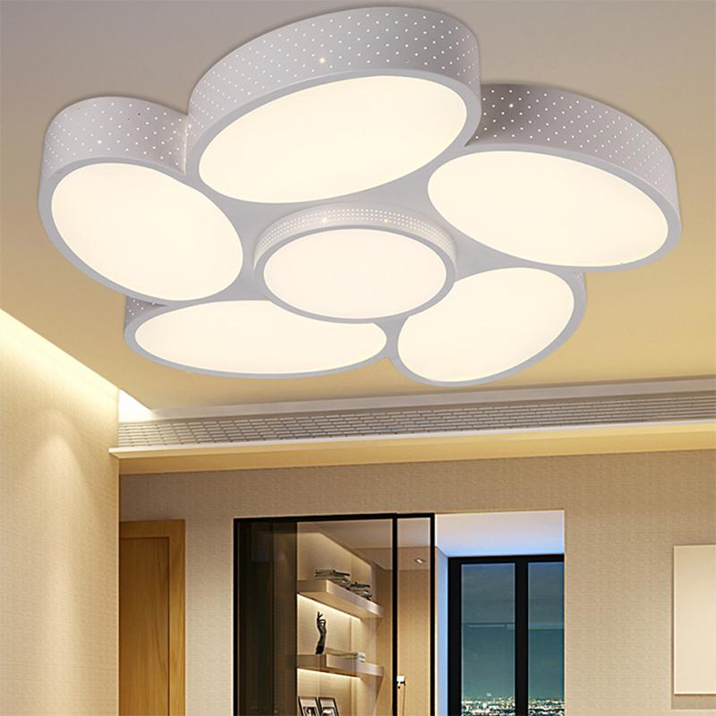 七牛椭圆蛋形led吸顶灯大气客厅大厅灯温馨主卧室房间