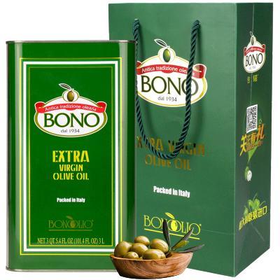 包锘(BONO) 特级初榨橄榄油意大利原装进口食用油 3L 3L与1L*3瓶(无袋子 )随机发货