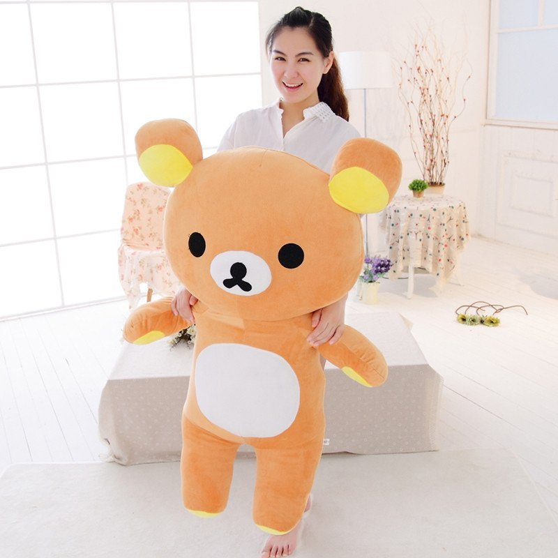 可爱轻松熊毛绒玩具 公仔抱抱熊大号女生布娃娃玩偶生日礼物女生