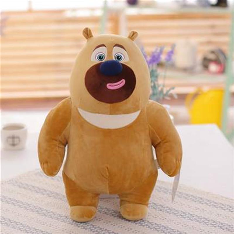 新版熊大熊二熊出没雪岭熊风毛绒玩具光头强布娃娃 儿童生日礼物