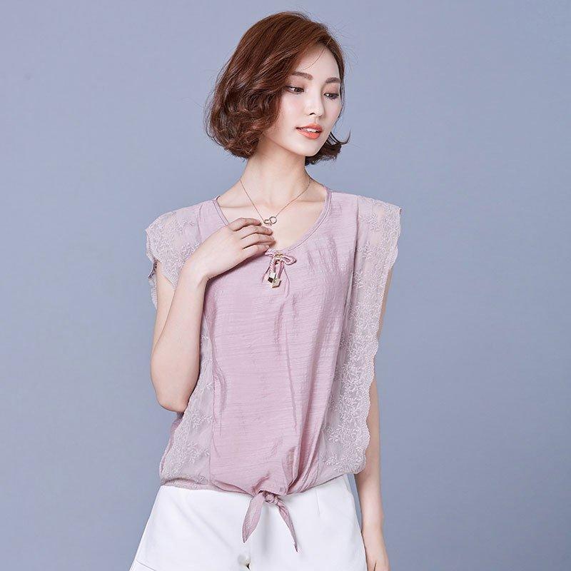雪纺衫�z(���-�i#�(�_尊首(zunshou)雪纺衫短袖女2016夏季新款女士百搭小衫