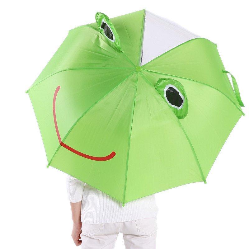 儿童卡通造型伞男女可爱宝宝长柄小雨伞公主遮阳伞创意礼物童伞 大象